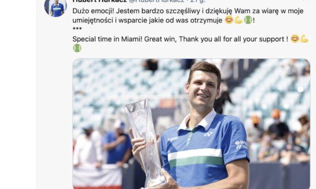 Hubert Hurkacz zwycięża w Miami Open 2021! Miami znowu biało-czerwone